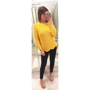 Zara Wavy Sweater in Yellow